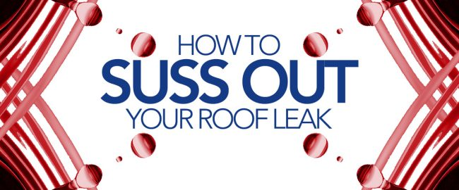How to suss out your roof leak